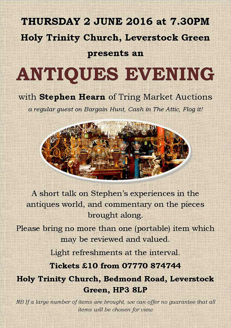 Antiques Evening 2016 poster